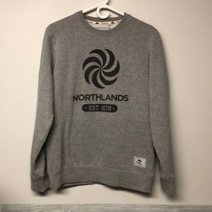 Roots Northland Grey Crew Sweater